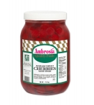 Ambrosia Maraschino Cherries with stems, 64 oz.