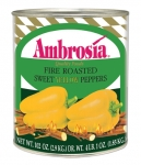 Ambrosia Fire Roasted Yellow Peppers, 28oz.