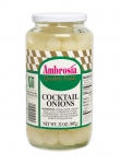Ambrosia Cocktail Onions, 1qt.